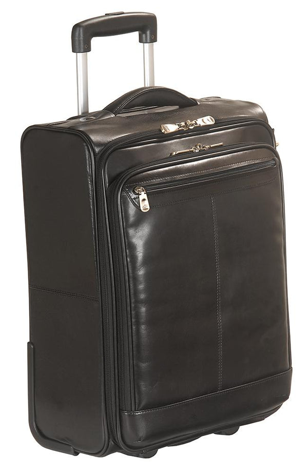 Mancini SIGNATURE Collection Overnight Laptop and Tablet Case on Wheels - Black