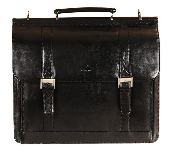 Mancini SIGNATURE Collection (Flap) Briefcase for Laptop and Tablet - Black
