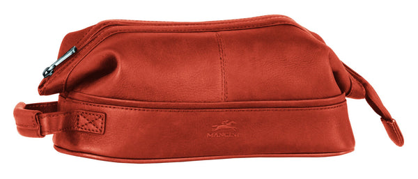 Mancini COLOMBIAN Collection Classic Toiletry Kit with Organizer - Cognac