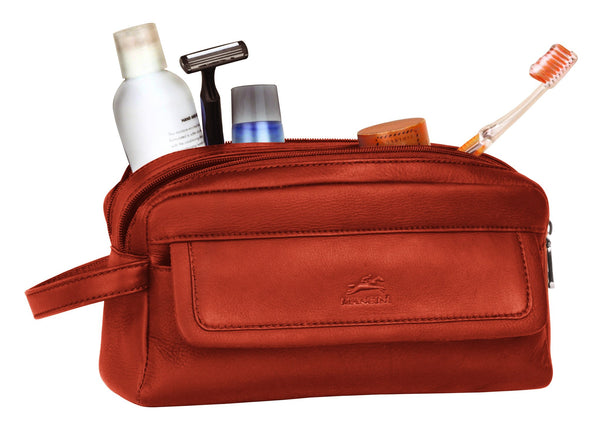 Mancini COLOMBIAN Collection Double Compartment Toiletry Kit