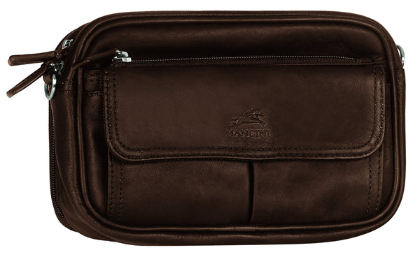 Mancini COLOMBIAN Collection Compact Unisex Bag - Brown