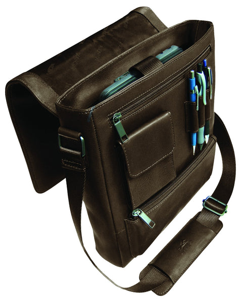 Mancini COLOMBIAN Collection Messenger Style Unisex Bag for Tablet and E-Reader
