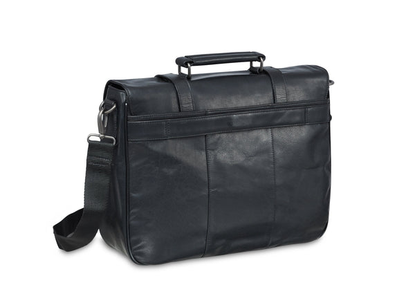 Mancini BUFFALO Single Compartment Briefcase for 15'' Laptop (RFID Blocking)