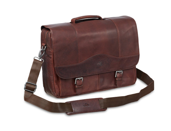 Mancini BUFFALO Porthole Briefcase for 15.6'' Laptop / Tablet (RFID Blocking)