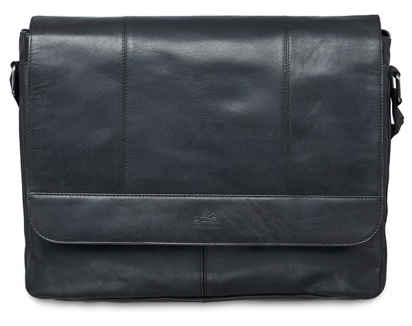Mancini BUFFALO Messenger Bag for 15'' Laptop / Tablet - Black