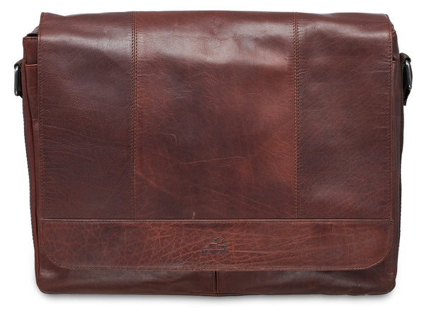 Mancini BUFFALO Messenger Bag for 15'' Laptop / Tablet - Brown