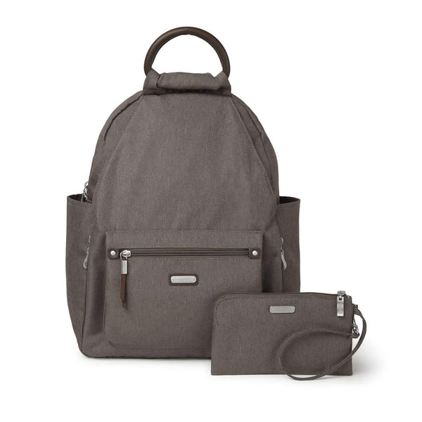 Baggallini All Day Backpack With RFID Phone Wristlet - Dark Umber