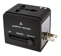 Austin House Universal Adapter Plug With Dual USB Charger