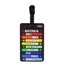 Austin House Classic Luggage Tag - Rainbow Colour Destinations