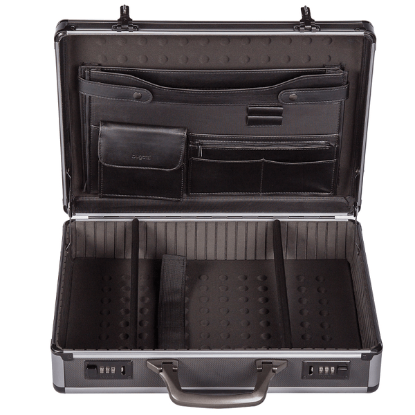 "Bugatti Gun Metal Finish 17"" Laptop Attaché Case"