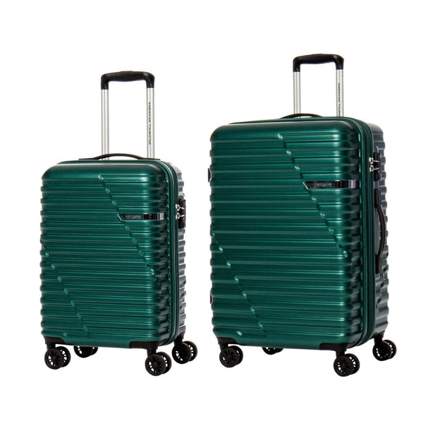 American Tourister Sky Bridge Collection 2 Piece Spinner Luggage Set (Carry-On & Medium) - Green