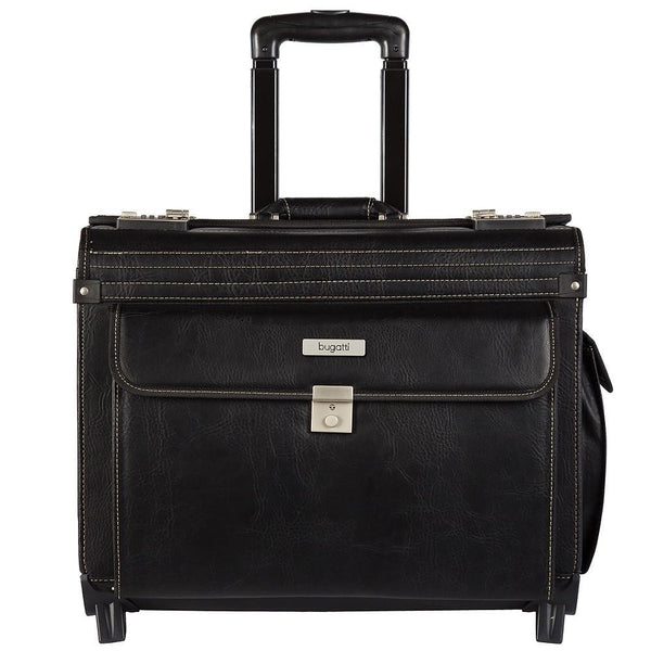 Bugatti Warren Business Case On Wheels - Black
