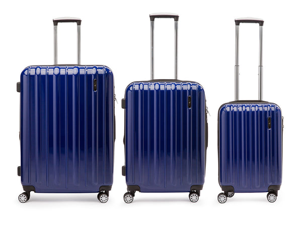 Explorer Classic Collection 3 Piece Expandable Spinner Luggage Set - Blue