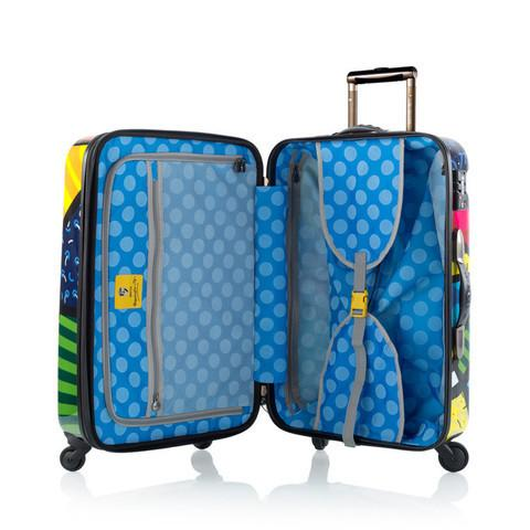 *LIMITED TIME OFFER* Heys Luggage Britto Butterfly Collection - 3 Piece Hardsided Spinner Upright Luggage Set
