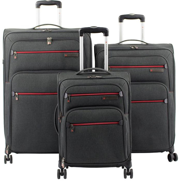 Air Canada 3 piece Expandable Spinner Luggage Set - Grey