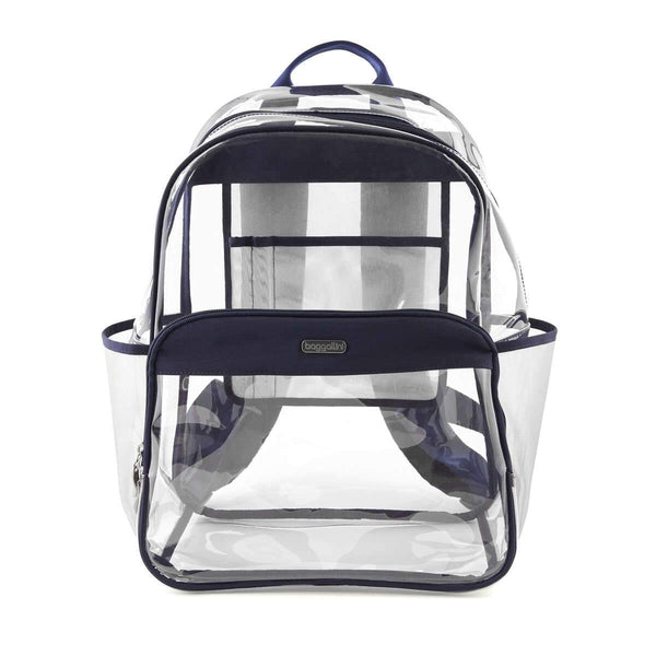 Baggallini Clear Event Compliant Large Backpack - Dark Blue