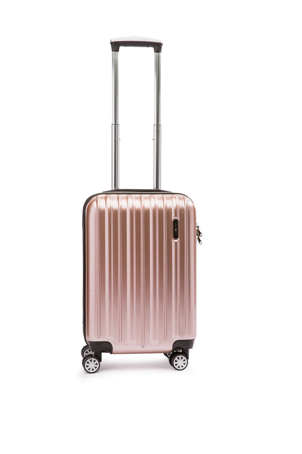 Explorer Classic Collection 20 inch Expandable Spinner Carry-On Luggage - Rose Gold