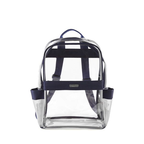 Baggallini Clear Event Compliant Medium Backpack - Dark Blue