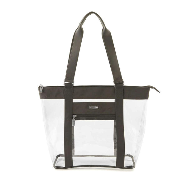Baggallini Clear Event Compliant Tote Bag - Charcoal