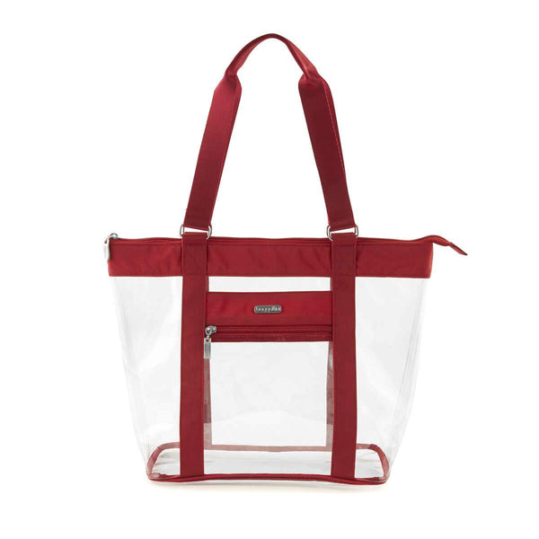 Baggallini Clear Event Compliant Tote Bag - Red
