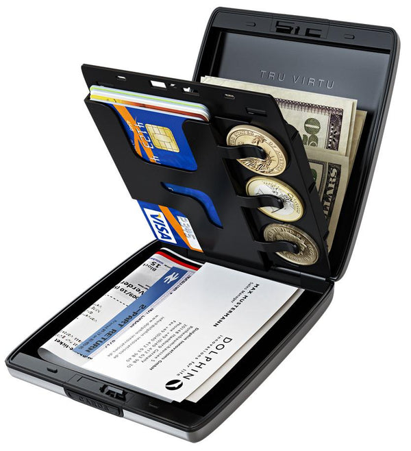 Tru Virtu Classic Line Wallet Money And Cards (RFID Blocking)
