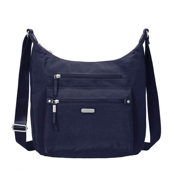 Baggallini Day Trip Hobo Bag With RFID Phone Wristlet - Navy