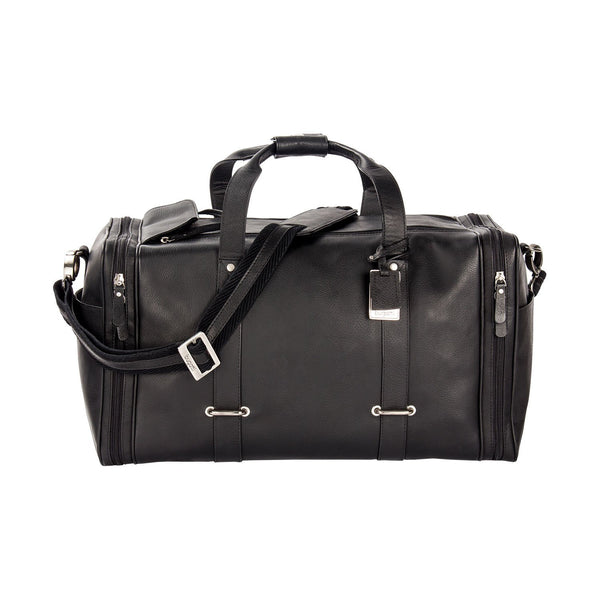Bugatti Bello Leather Duffel Bag - Black