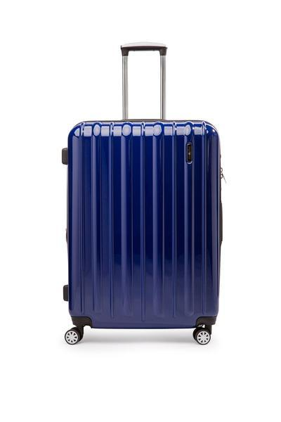 Explorer Classic Collection 2 Piece Expandable Spinner Luggage Set - Medium & Large - Blue