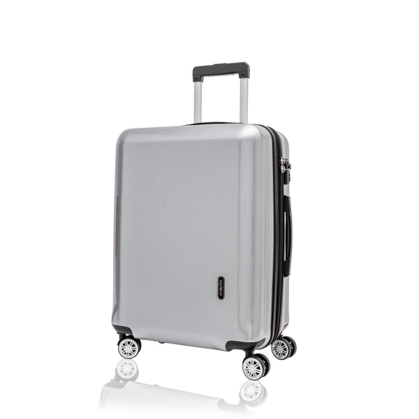 Explorer Edge Medium Expandable Spinner Luggage - Silver