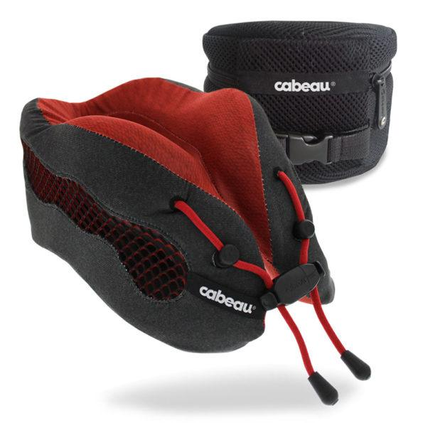 Cabeau Evolution Cool Travel Pillow - Red