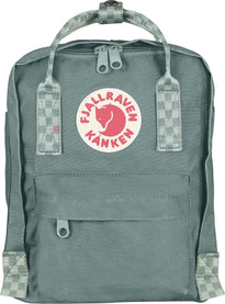 Fjallraven Kanken Mini Backpack - Frost Green-Chess Pattern