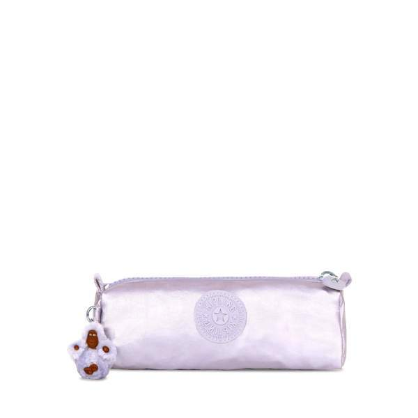 Kipling Freedom Metallic Pencil Case - Frosted Lilac Metallic