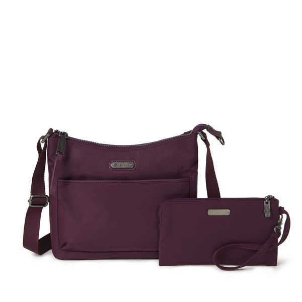 Baggallini Greenwich Crossbody Bag - Plum Berry