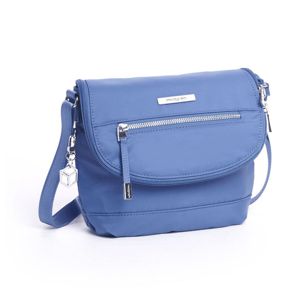 Hedgren Shimmer RFID Crossbody with Flap - Blue Sapphire