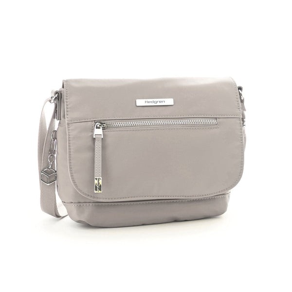Hedgren Shimmer RFID Crossbody with Flap - Zinc