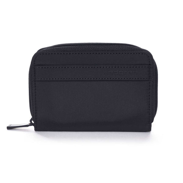 Hedgren Krona Zipper Purse with RFID Pocket - Black