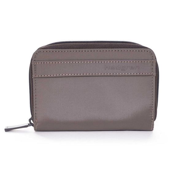 Hedgren Krona Zipper Purse with RFID Pocket - Sepia/Brown