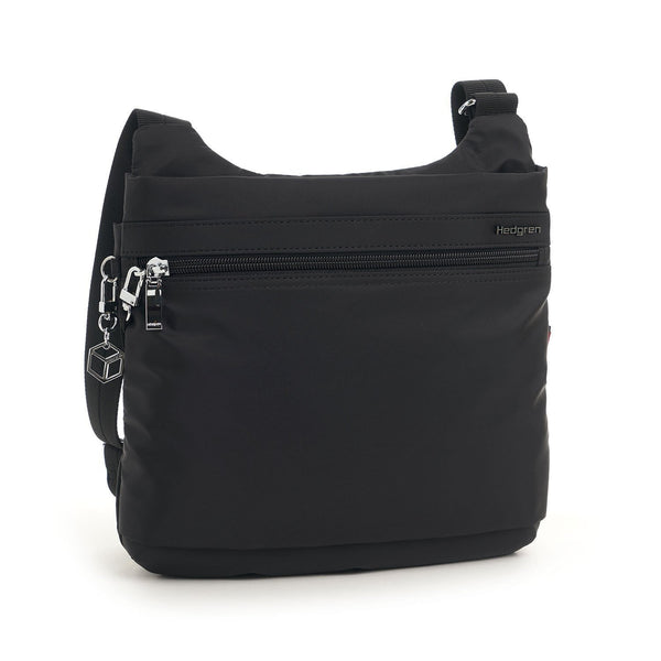 Hedgren Faith RFID Crossbody with Safety Hook - Black