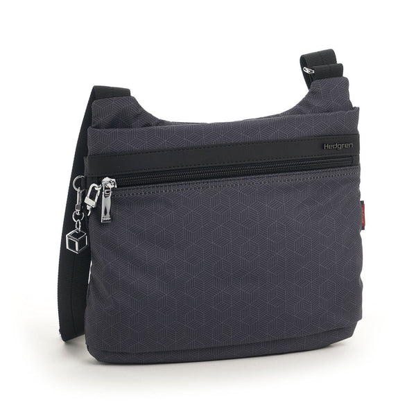 Hedgren Faith RFID Crossbody with Safety Hook - Cube Print