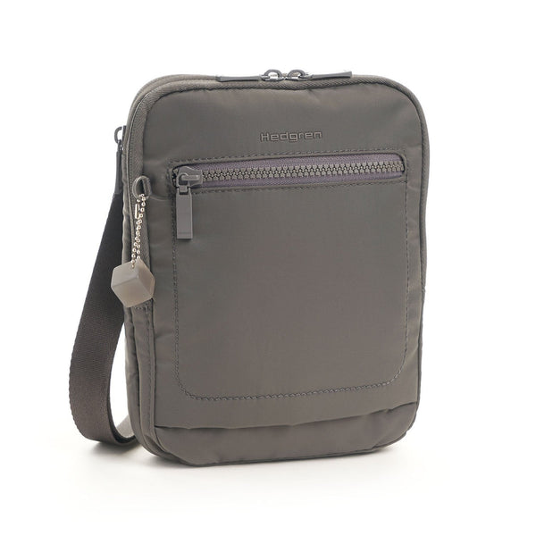 Hedgren Trek Small Vertical Crossbody with RFID Pocket - Tornado Grey