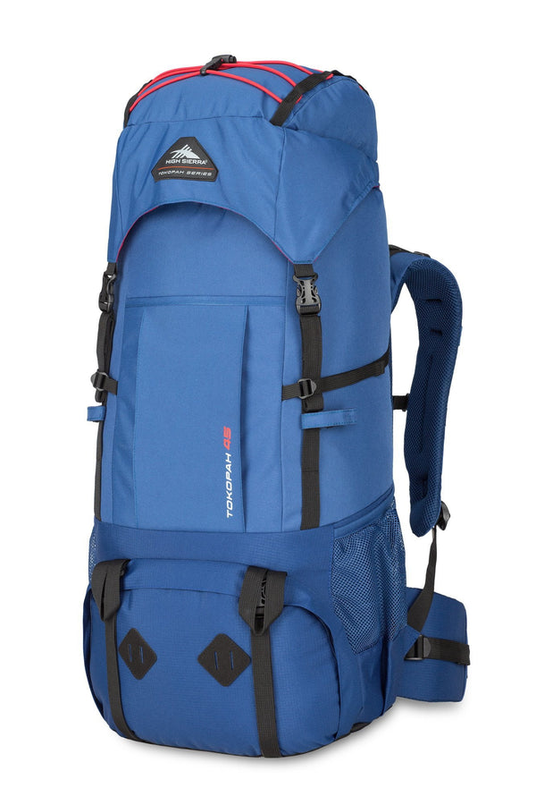 High Sierra Tokopah 55L Pack (Backpacking) - Pilot/Atlantic/Crimson