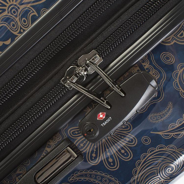 Heys Indigo Paisley 21 Inch Fashion Spinner Carry-On Luggage