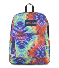 JanSport SuperBreak Backpack - Red/Multi Hippie Days