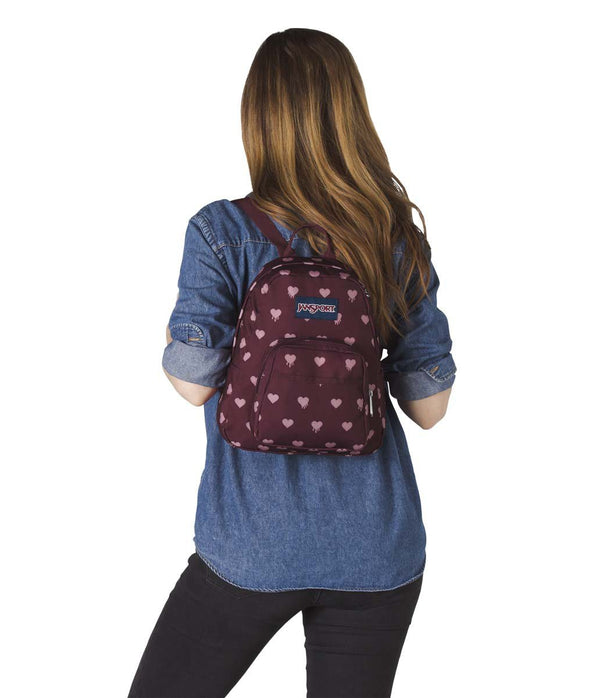 JanSport Half Pint Mini Backpack - Russet Red Bleeding Hearts