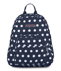 JanSport Half Pint Mini Backpack - Dark Denim Polka Dot