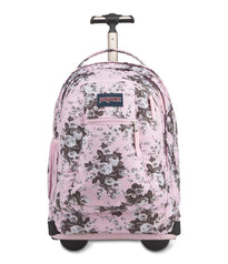 JanSport Driver 8 Wheeled Backpack - Pink Antique Floral