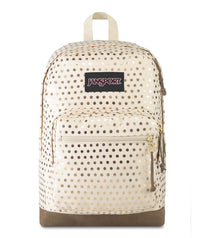 JanSport Right Pack Expressions Backpack - Gold Polka Dot