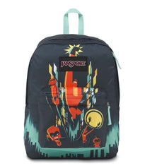 JanSport Incredibles High Stakes Backpack - Incredibles Family Cityscape