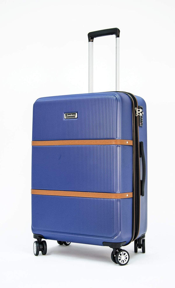Samboro Premier 23 Inch Expandable Spinner Luggage - Blue