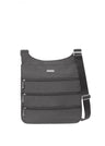 Baggallini Big Zipper Crossbody - Charcoal